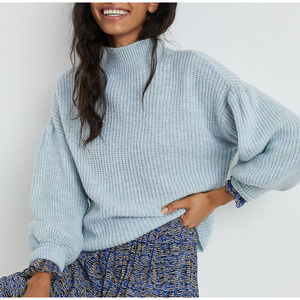 Anthropologie Maeve Betty Puff-Sleeved Sweater Sky